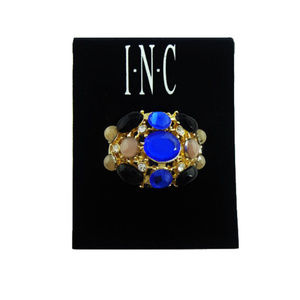INC Concepts Jet Blue & Gold Tone Ring$26.00